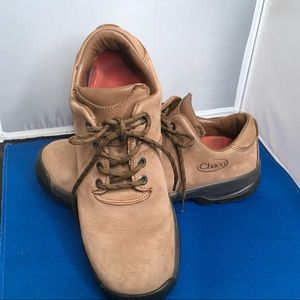 Chaco Leather Lace Up Hiking Shoe Skywalker Sz 10